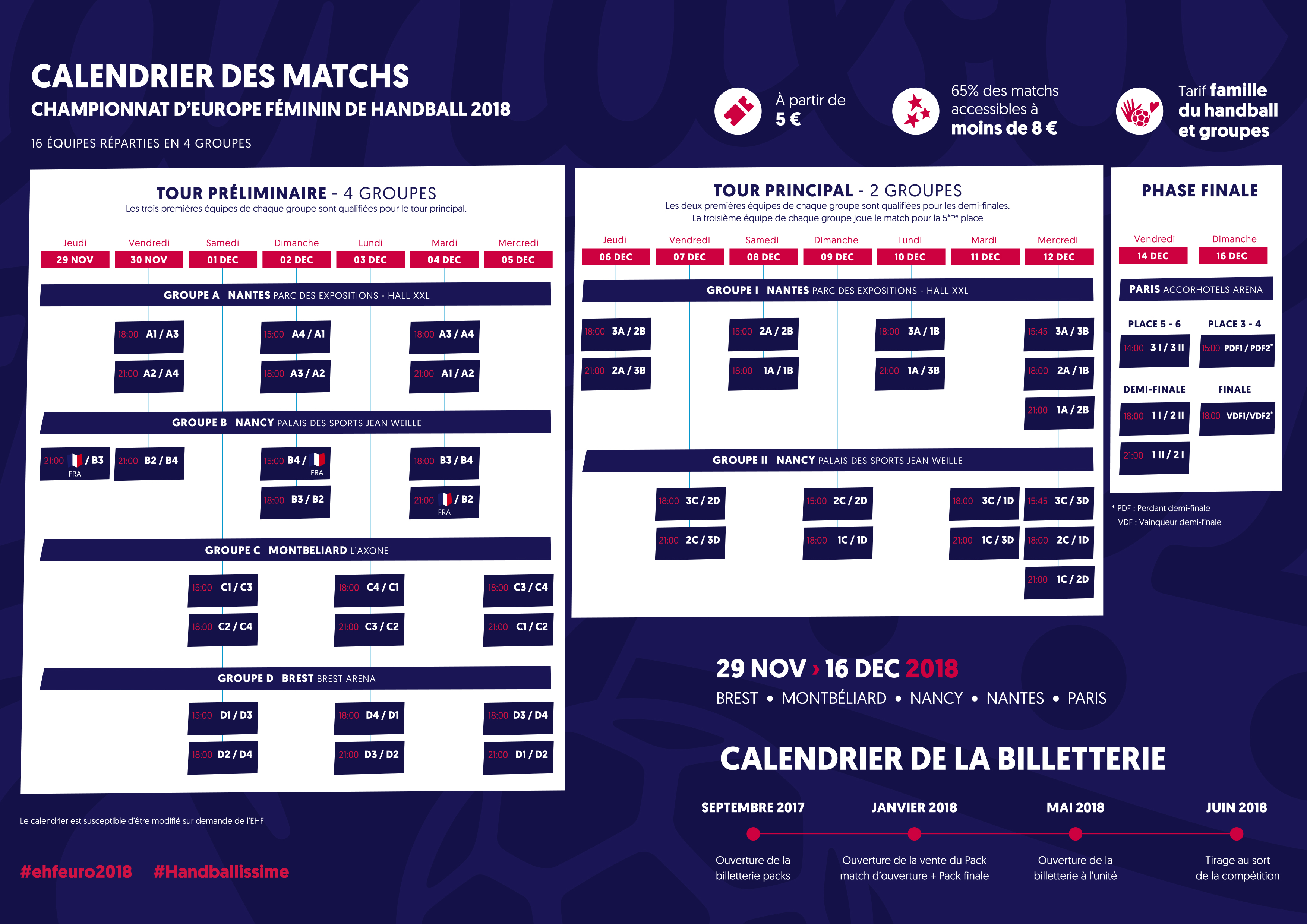 Calendrier Match Coupe D Europe.Euro 2018 Billetterie