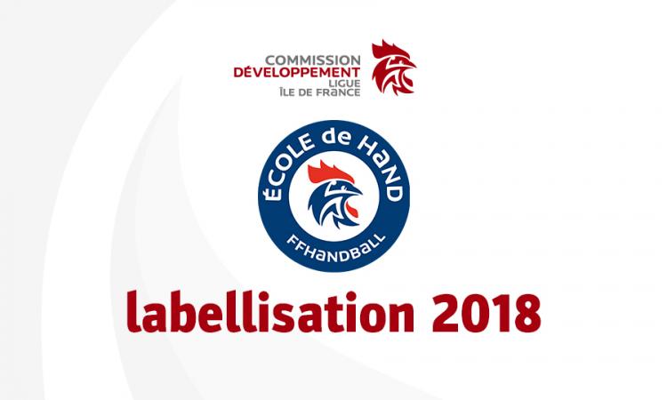Labellisation 2018 des Écoles de hand