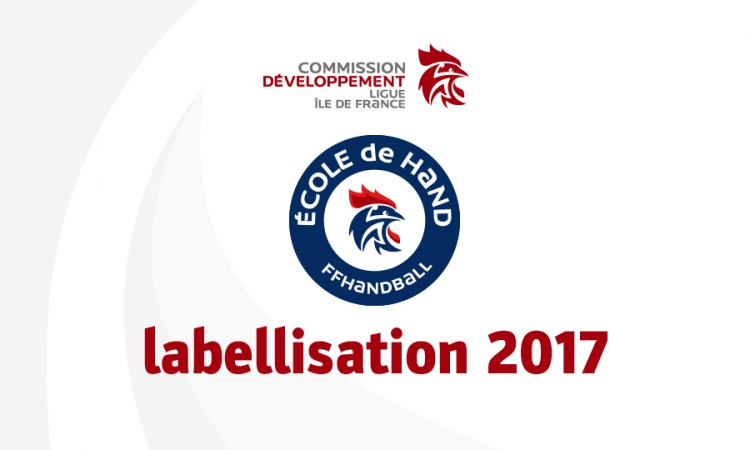 Labellisation 2017 des Écoles de hand