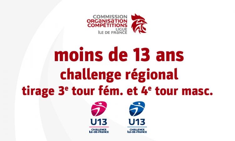 Challenge régional des moins de 13 ans – J4 masc. & J3 fém.