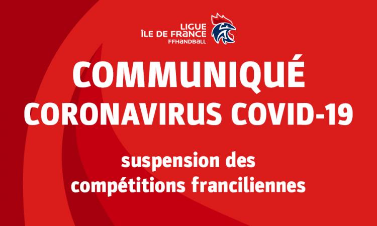 Coronavirus COVID-19 – suspension des compétitions franciliennes