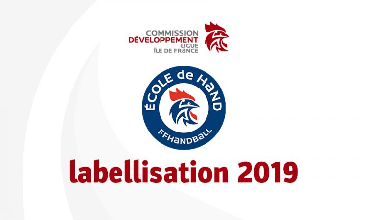 Labellisation 2019 des Écoles de hand