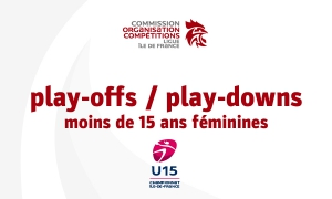 Play-offs / play-downs moins de 15 ans féminines