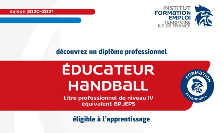 Titre IV professionnel – Éducateur de handball (2020-2021)