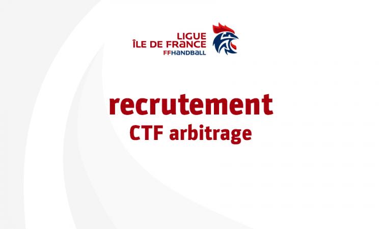 Recrutement ligue : CTF arbitrage