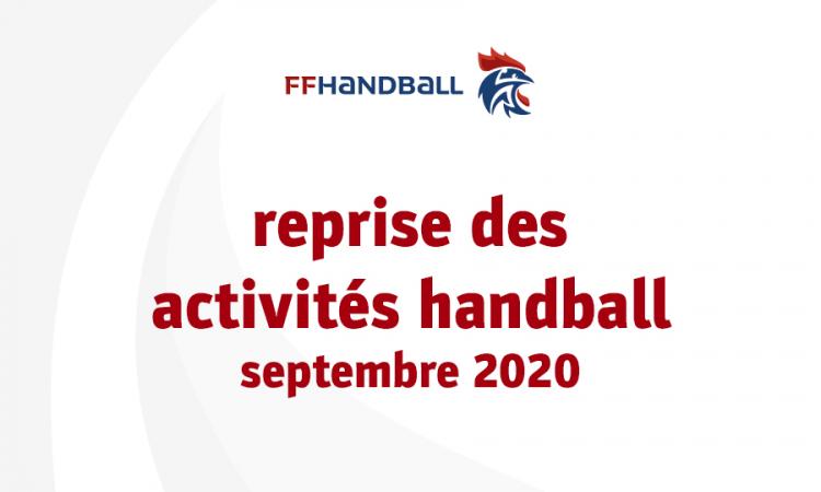 Reprise des activités handball – màj 17 septembre 2020