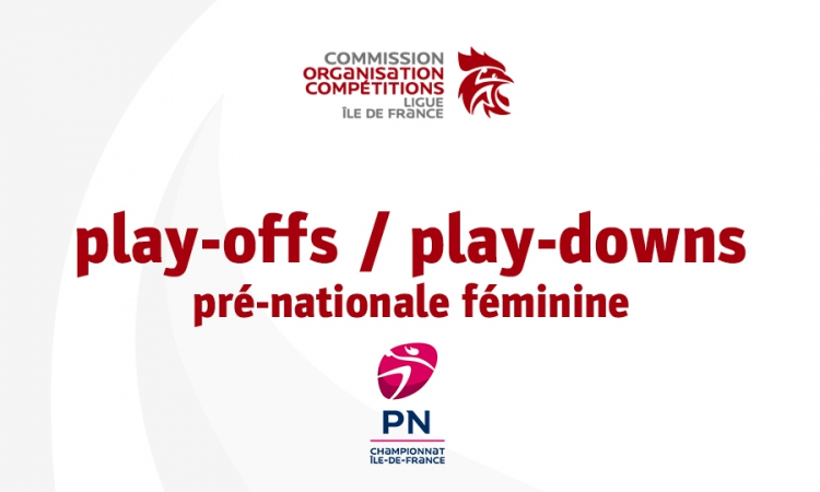 Play-offs / play-downs pré-nationale féminine