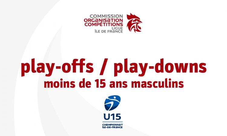 Play-offs / play-downs moins de 15 ans masculins (élite)