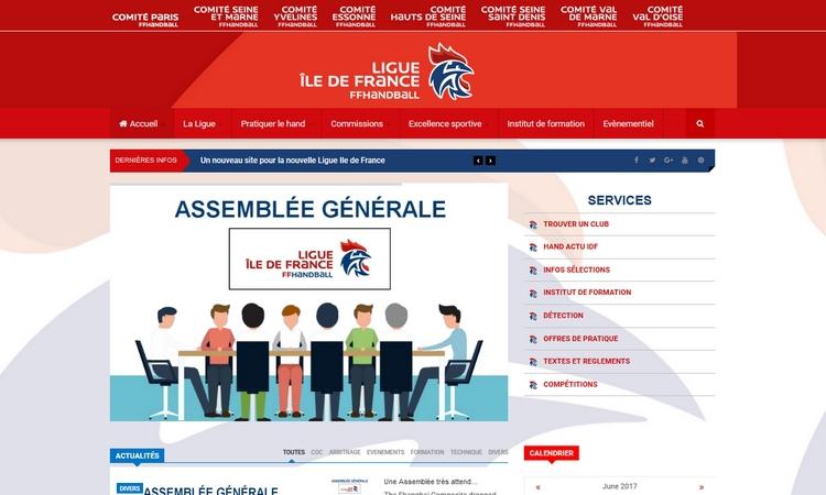 Un nouveau site pour la ligue d'Île-de-France