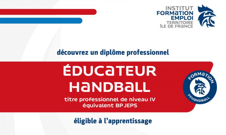 Titre IV professionnel – Éducateur de handball (2021-2022)