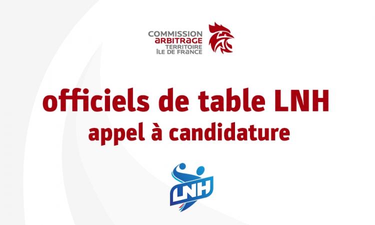 Officiels de table de marque – secteur LNH