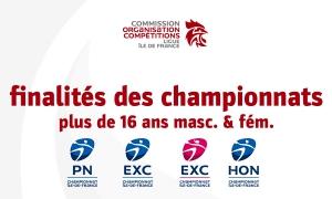 Finalités des championnats régionaux plus de 16 ans